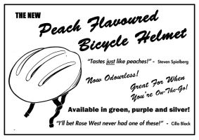 The New Peach Flavoured Bicycle Helmet by TomRFoster