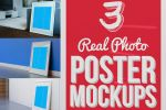 3 Real Photo Poster Mockups by pstutorialsws