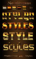 6  Red Gold Styles by Natalivesna
