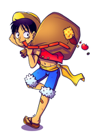 luffy by junawashere