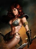 Red-sonja-in-scale-armor-and-gaunlet-photo-u1 by talha122