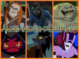 Alexander Polinsky Characters by PhantomEvil