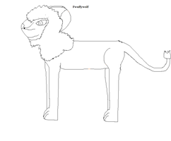 Male adult lion lineart by Fwuffywolf