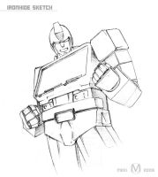 Ironhide Sketch by meki22