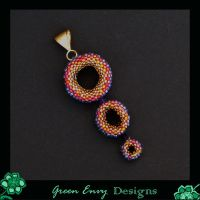 Dusk beaded bead pendant by green-envy-designs