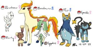 My Current Pokemon Platinum Team by alexisrose1454