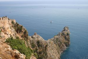 Alanya Cliff Fort by SilverWolf112