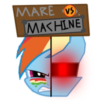 Mare vs. Machine (Rainbow Dash vs. R-DASH 5000) by Geno-Dimentio