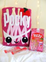 Strawberry Pocky Plushie by pocketcup
