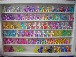 My little Pony FIM G4 Blind Bag Shelf Update by BerryMouse