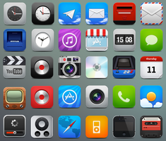 iPhone HD icons by fenixtx22