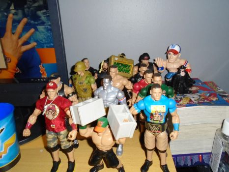 WWE figures collection by teamspike1