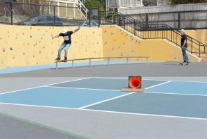 The Skateboarder On the Rail 3 by Miss-Tbones