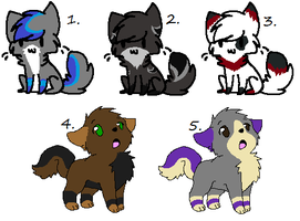 Kitten and Puppy Point Adopts -OPEN- by WolfTwine