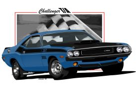 1970 Challenger TA Blue by sharpie1k