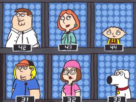 Family Guy on 1 vs 100 by DJgames