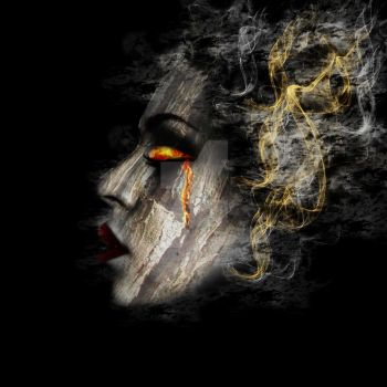 Wood and Fire portrait by starkeygraphics