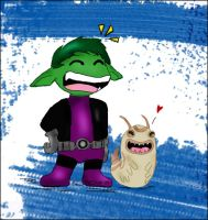 BeastBoy and Silkie by FuSSsL