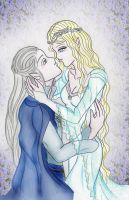 Galadriel and Celeborn by keep-breathing