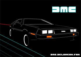 DMC-12 Delorean T-shirt by DMC-DELOREAN-FAN