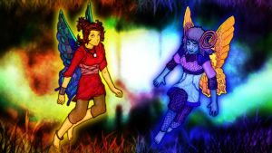 Dora and Cilia of Knytt Underground by Anagram-Daine