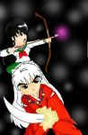 Inuyasha Kagome Preparing For Battle by inustwin6789