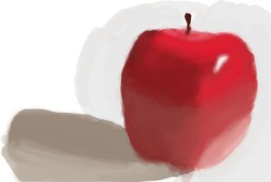 First painting, an unfinished, rough as shit apple by joebentley10