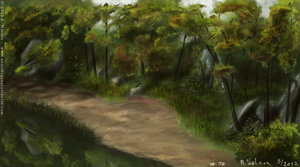 Fordham Forest Speedpaint by merrak