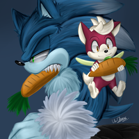 Werehog and Chip by Unichrome-uni