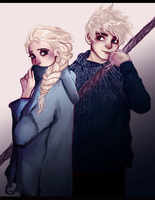 Elsa and Jack by NoodleSayYeah