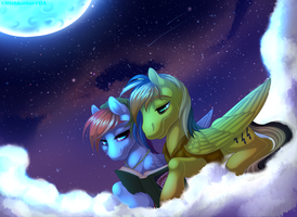 Commission - Under the Moon by KittehKatBar