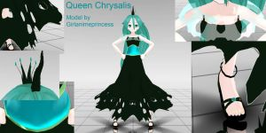 Queen Chrysalis MMD Model by GirlAnimePrincess