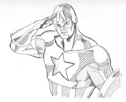 Captain America by marron