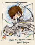 Hiccup and Toothless by StarMasayume