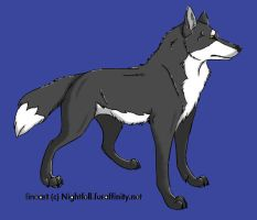 Another Wolf Lineart by Skiebear