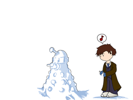 The Doctor and Snow Dalek M II by whosname