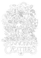 Annoying Critters Lineart by luffie