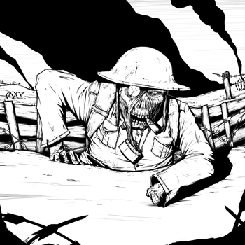 Soldier black and white by StopSignal