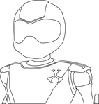 Toonami Tom Thick Outline by TheSpikeAndKey