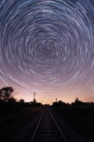 Star trails on the rails by JurajParis