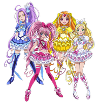 Suite Pretty Cure - New Stage 2 Poses by frogstreet13