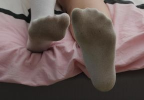 Female Socked Feet 3 by TobyMcDee
