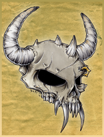 Demon skull by Morrison3000