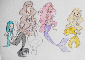 Pop Mermaids by LL0ND0N