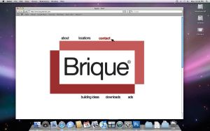 Brique website - Home page by Lienna28