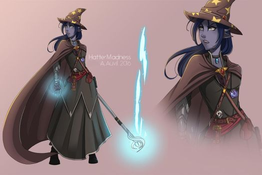 Kasumi Amastacia, Archmage by HatterMadness
