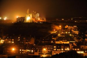 Whitby at night by teslaextreme