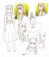 Thumbelina concept sketches by meago