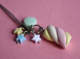 Marshmallow Mobile Phone Charm by breatheday
