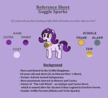 Reference Sheet: Goggle Sparks by GoggleSparks